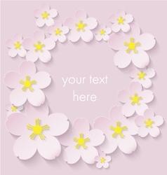 Paper flowers vector