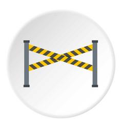 Police line icon circle vector