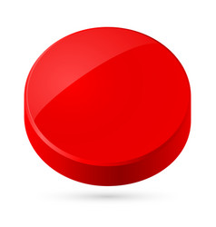 red disk isolated on white background vector image vector image