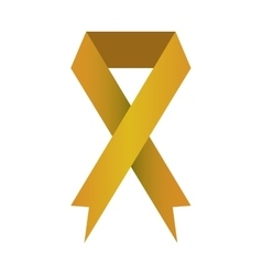 Ribbon banner commemorates yellow design icon vector