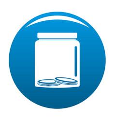 save money icon blue vector image vector image