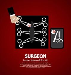 Surgeons incision scissors vector