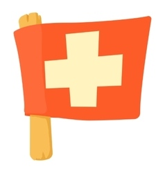 Switzerland flag icon cartoon style vector