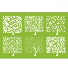 tree collection vector image vector image