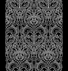 vintage pattern black white vector image