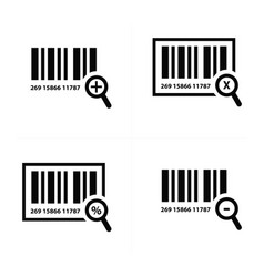 Zoom barcode design vector