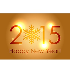 - Happy New Year 2015 - gold glowing background vector image vector image