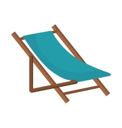 Beach chair wooden vector