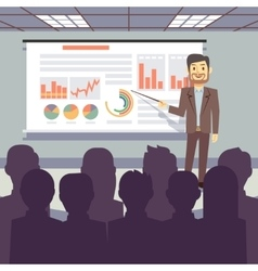 Public business training conference workshop vector
