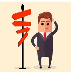 Businessman or manager have to choose vector
