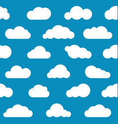 White clouds seamless pattern vector