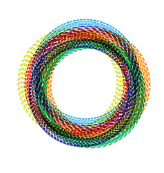 Circle tire tracks color vector