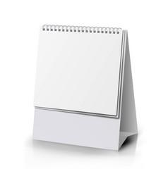 Paper calendar blank vertical realistic standing vector