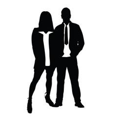 couple silhouette in love romance vector image