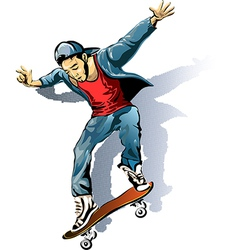 The skateboarder vector