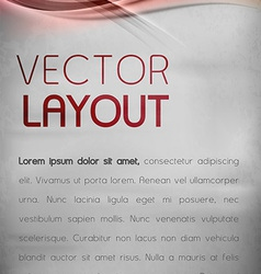 Abstract layout vector