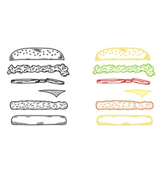 Sketch of the hamburger vector
