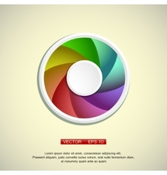 colorful circl vector image