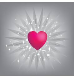 Exploding pink heart vector