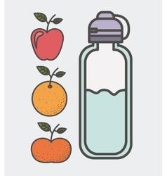 Eat healthier design vector