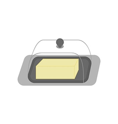 Butter dish icon vector