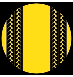 Tire track in yellow circle vector image