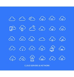 Cloud service icon set vector