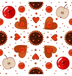 Bakery Sweets and Cookies Seamless Pattern vector image