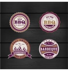 Barbecue bbq grill logo stamp retro set vector