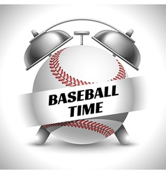 Baseball time concept vector image vector image