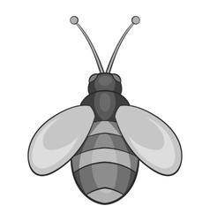 Bee icon black monochrome style vector