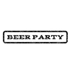 Beer party watermark stamp vector