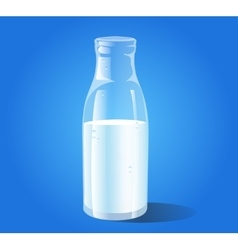 bottle of milk vector image