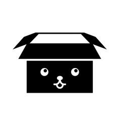 Box carton packing kawaii character vector
