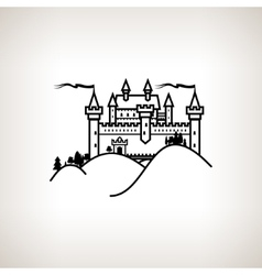 Castle Hill on a Light Background vector image
