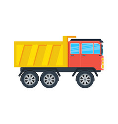 Commercial tipper isolated icon vector