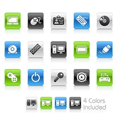 Computer Devices Clean Series vector image vector image
