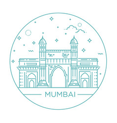 Gate way of india mumbai vector