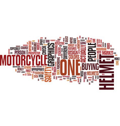 Graphics for the motorcycle helmet text vector