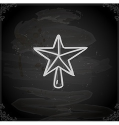 Hand drawn christmas star vector