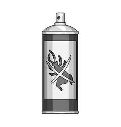 Hexachlorane aerosol single icon in monochrome vector