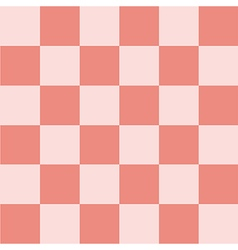 Light pink coral chess board background vector