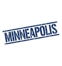Minneapolis blue square stamp vector