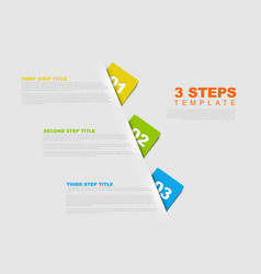 one two three - progress template vector image