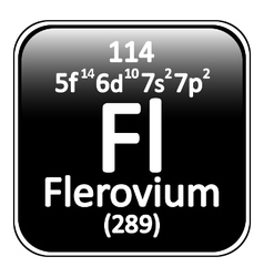 Periodic table element flerovium icon vector