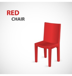 Red chair isolated vector