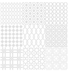 Seamless white pattern vector