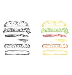 Sketch of the hamburger vector