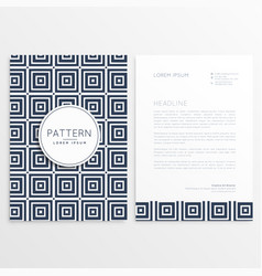 Stylish letterhead design with square patterns vector