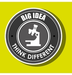 think different isolated icon design vector image